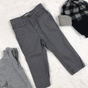 Gray Skinny Leg Boy Dress Pant